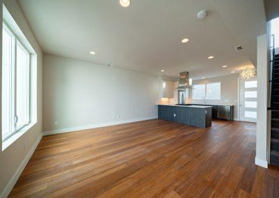 sustainable design build denver colorado west colfax 1365 zenobia hardwood open concept kitchen living room