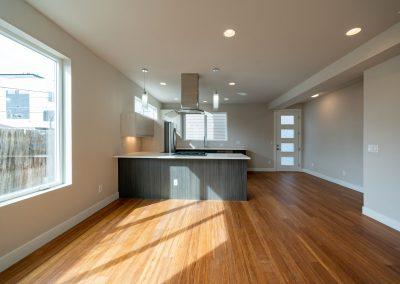 sustainable design build denver colorado west colfax 1365 zenobia open concept hardwood kitchen custom cabinets