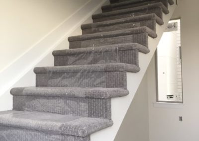 sustainable design build denver colorado west colfax 1254 perry during construction stairway carpet tread