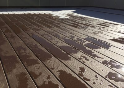 sustainable design build denver colorado west colfax 1220 perry during construction roof deck trex decking