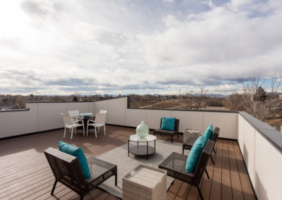 sustainable design build denver colorado west colfax 1220 perry roof deck trex decking mountain view patio furniture