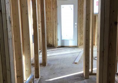 sustainable design build denver colorado west colfax 1254 perry during construction bedroom framing door install