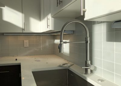 sustainable design build denver colorado west colfax 1254 perry during construction kitchen custom backsplash delta faucet cabinet