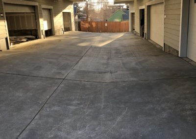sustainable design build denver colorado west colfax during construction 1254 perry driveway install concrete