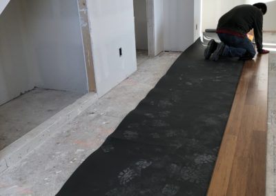 sustainable design build denver colorado west colfax during construction 1216 perry hardwood flooring install