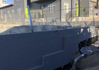 sustainable design build denver colorado west colfax during construction 1265 xavier foundation structural strap