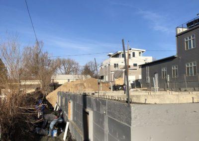 sustainable design build denver colorado west colfax during construction 1265 xavier foundation structural straps