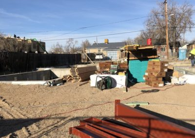 sustainable design build denver colorado west colfax during construction 1365 zenobia structural steel deliver foundation