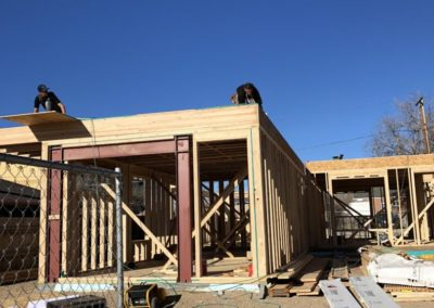 sustainable design build denver colorado west colfax during construction 1365 zenobia wall framing moment frame