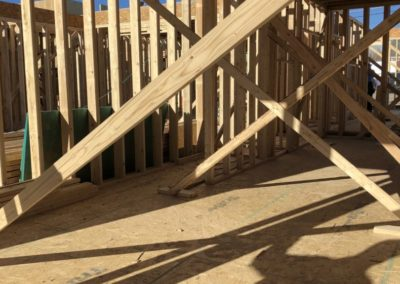 sustainable design build denver colorado west colfax during construction 1365 zenobia wall framing
