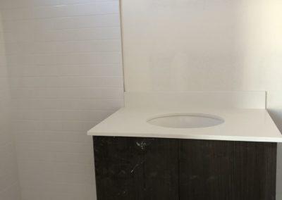 sustainable design build denver colorado west colfax during construction 1254 perry bathroom vanity custom tile mosaic