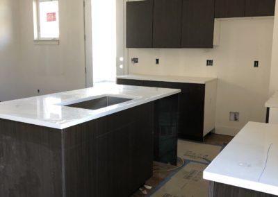 sustainable design build denver colorado west colfax during construction 1254 perry kitchen custom cabinet quartz