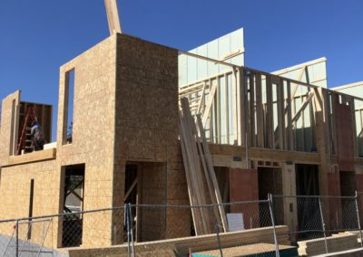 sustainable design build denver colorado west colfax 1265 xavier wall framing sheathing firewall install