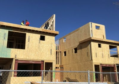 sustainable design build denver colorado west colfax 1365 zenobia during construction framing walls moment frame