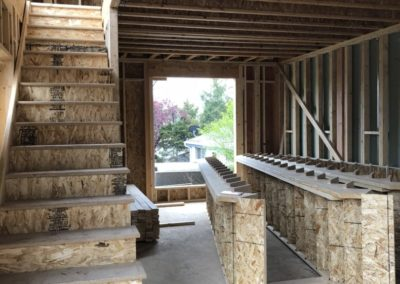 sustainable design build denver colorado west colfax 1265 xavier during construction stair delivery install