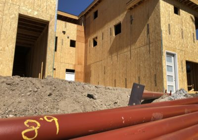 sustainable design build denver colorado west colfax 1365 zenobia framing sheathing steel posts pole