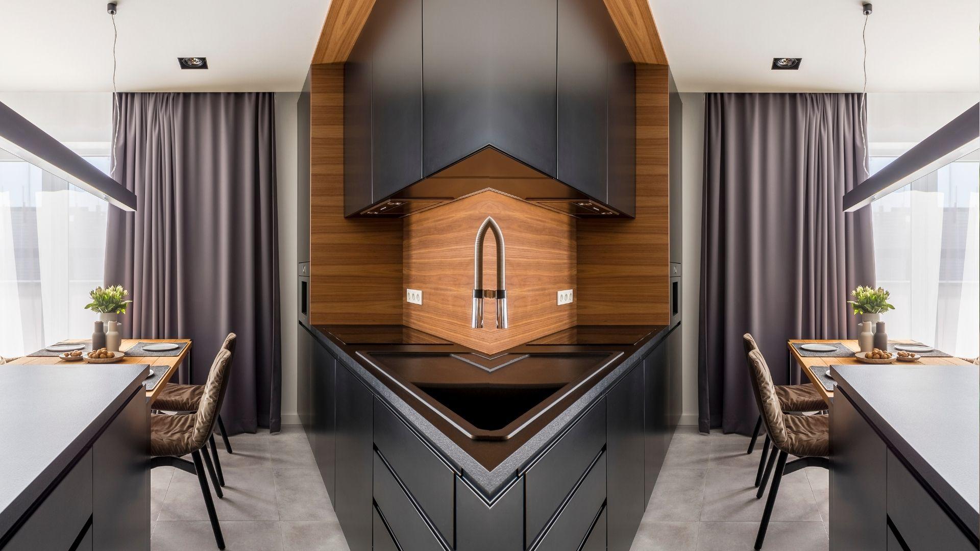 Black Cabinets upscale kitchen pandemic money saving denver contractor adu