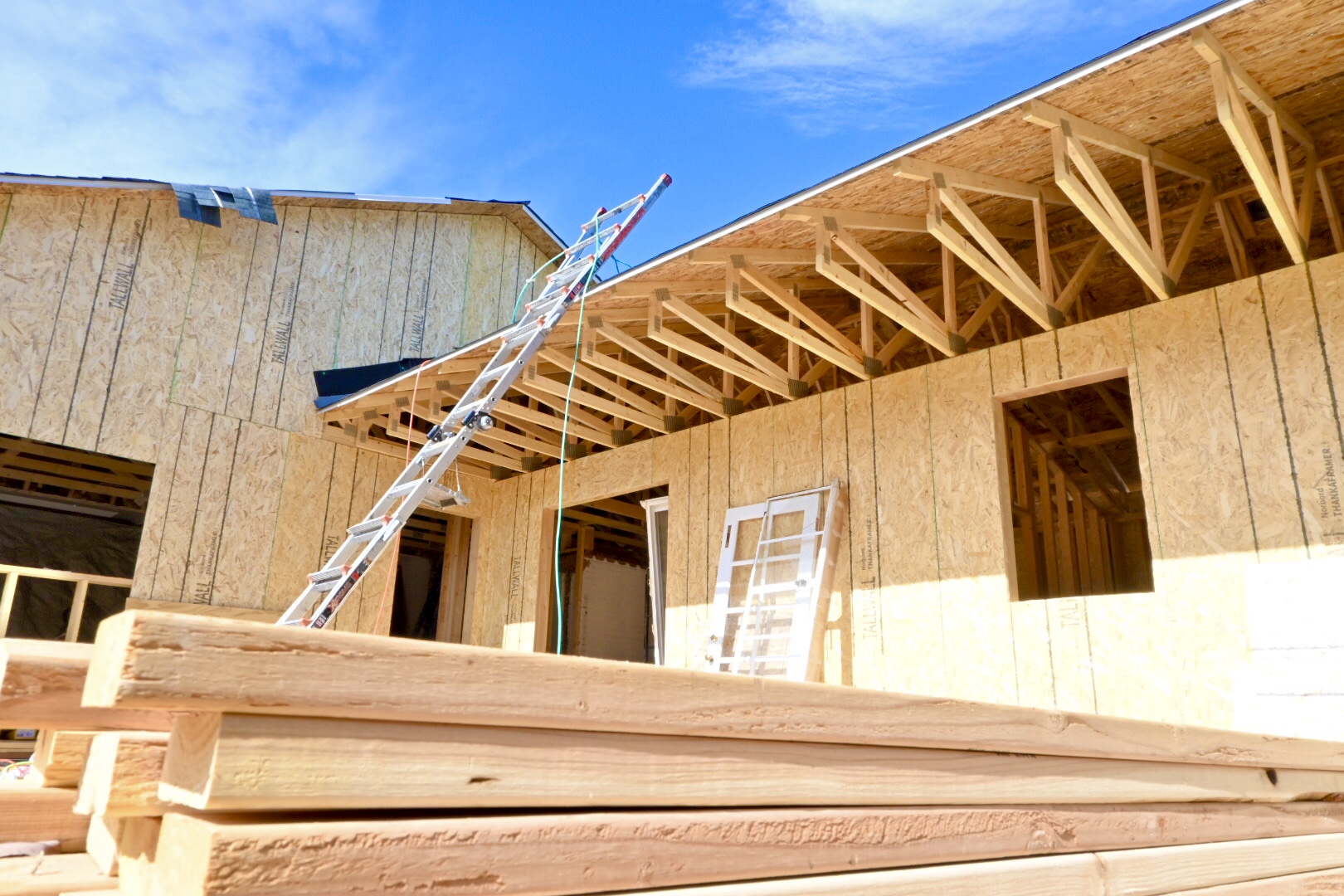Hale Denver addition colorado project construction blue sky remodeling framing wood sustainable material new design