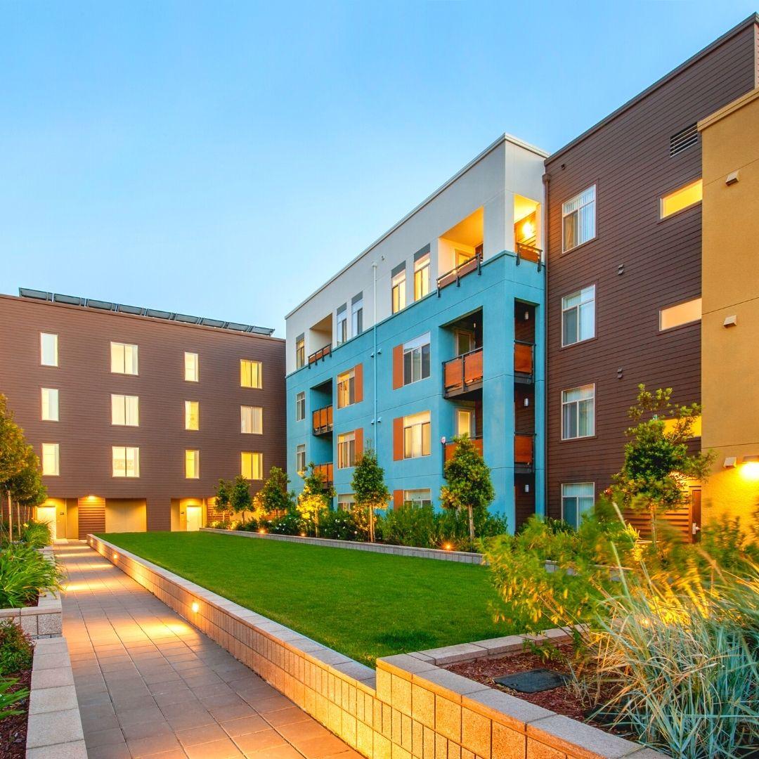 modern multi-family development courtyard denver