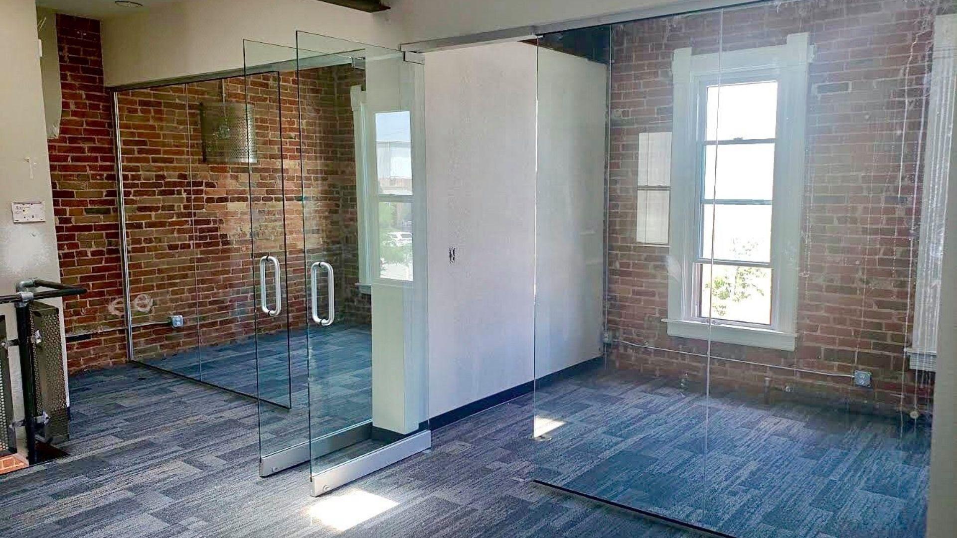 Sustainable Design Build Summit Church Glass Panels - tenant finish