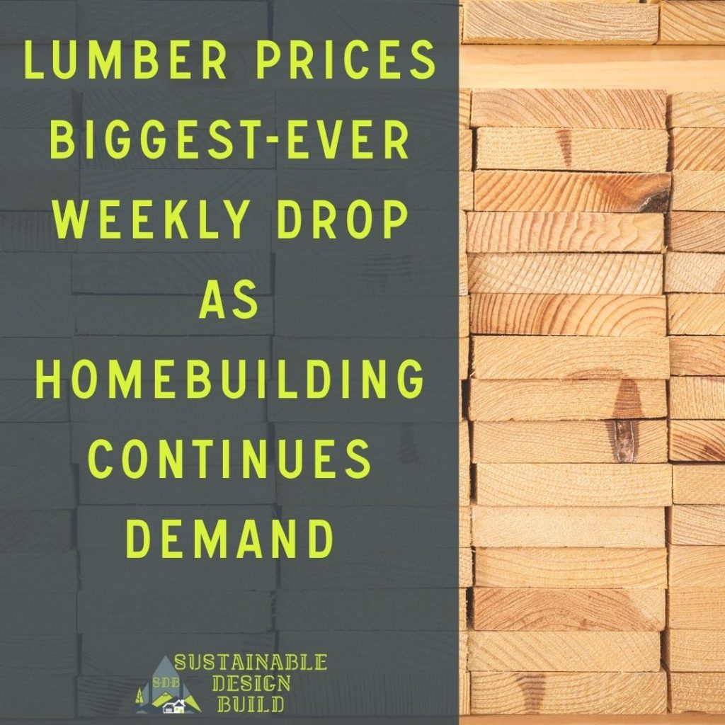 Recently, over the weekend, lumber futures saw an 18% drop in most active futures as homebuilding continues in demand Sustainable design build homebuilder denver colorado washington park 80209