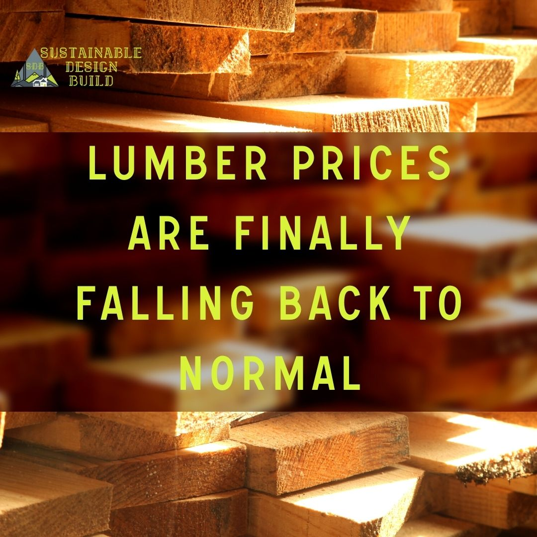 Lumber Prices Are Finally Falling Back To Normal building costs for additions