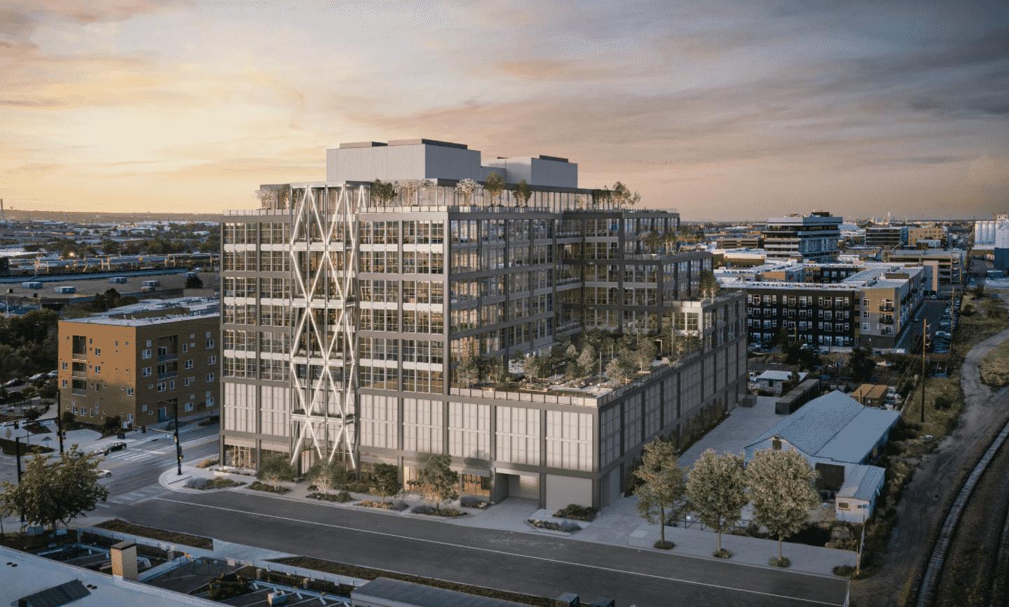 Steel House RiNo Denver, CO office commercial construction rendering